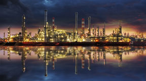 Petrochemical industry - Oil refinert Royalty Free Stock Image