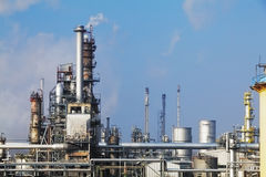 Petrochemical industry - Oil refinery Royalty Free Stock Images