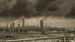 Petrochemical industry plant stock image