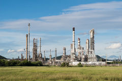 Petrochemical industry power station with blue sky background Royalty Free Stock Images