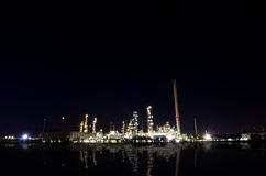 Petrochemical industry on sunset. Stock Photos
