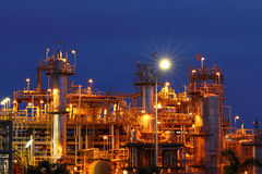 Petrochemical industry on sunset. Stock Photo
