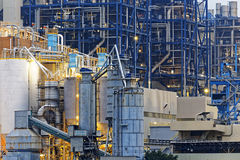 Petrochemical industry on sunset Stock Image