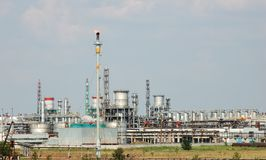 Petrochemical industry view. The petrochemical industry factory view Stock Image