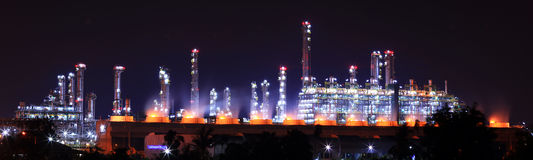 Petrochemical oil refinery Stock Photo