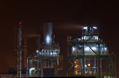 Petrochemical oil refinery factory Royalty Free Stock Images