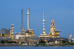 Petrochemical oil refinery factory Stock Images