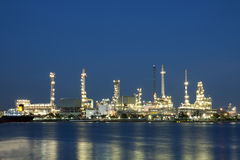 Petrochemical oil refinery factory Stock Image
