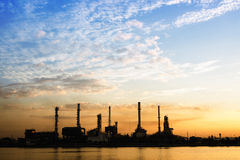 Petrochemical oil refinery factory Stock Photos
