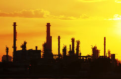 Petrochemical oil refinery factory pipeline Royalty Free Stock Images