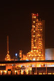 Petrochemical oil refinery plant Royalty Free Stock Images