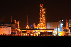 Petrochemical oil refinery plant Stock Photography