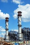 Petrochemical oil refinery, Puente Mayorga. Royalty Free Stock Images