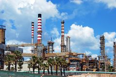 Petrochemical oil refinery, Puente Mayorga. Royalty Free Stock Image