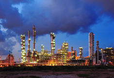 Petrochemical plant. In evening at Thailand Stock Photography