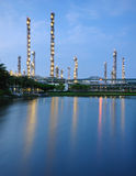 Petrochemical plant. With water front royalty free stock image