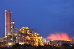 Petrochemical plant. In the night Royalty Free Stock Photography