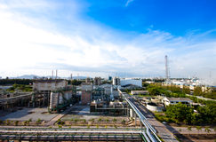 Petrochemical plant Royalty Free Stock Photos