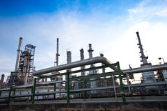 Petrochemical plant Royalty Free Stock Image