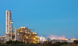 Petrochemical plant. Gas line in petrochemical plant Stock Image