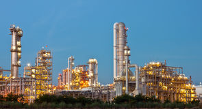 Petrochemical plant. Gas line in petrochemical plant Stock Photo