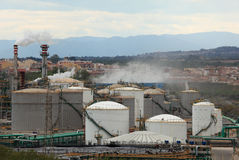 Petrochemical plant Stock Photos