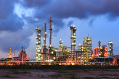 Petrochemical Plant. In sunset time Royalty Free Stock Photos