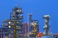 Petrochemical Plant. In sunset time Royalty Free Stock Images