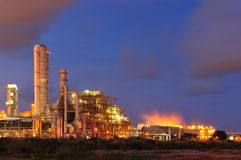 Petrochemical Plant. In sunset time Stock Photography