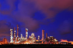 Petrochemical Plant. During sunset time Royalty Free Stock Photos