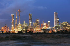 Petrochemical plant. In evening at Thailand Royalty Free Stock Photography