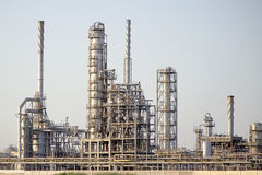 Petrochemical Plant. Towers in the outskirts of the city of Alexandria, Egypt Stock Photos
