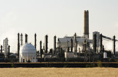 Petrochemical plant. In the Texas Panhandle Stock Image