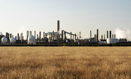 Petrochemical plant. In the Texas Panhandle Stock Photography