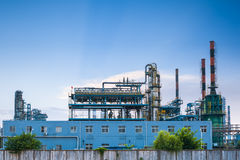 Petrochemical plant closeup Stock Images