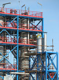 Petrochemical plant construction site Stock Images