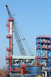 Petrochemical plant construction site Stock Photos