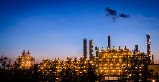 Petrochemical plant   at dawn Royalty Free Stock Images