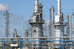 Petrochemical plant detail Stock Photos