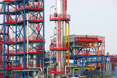 Petrochemical plant detail. Oil industry Stock Photography