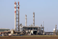 Petrochemical plant heavy industry Stock Image