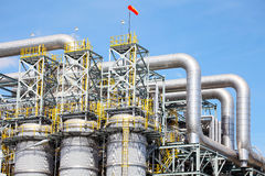 Petrochemical Plant. In Industrial Zone Royalty Free Stock Photography