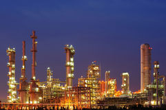 Petrochemical plant. Petrochemical industry during the sunset Royalty Free Stock Photo