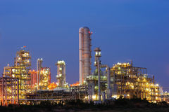 Petrochemical plant. Petrochemical industry during sunset Thailand Stock Image