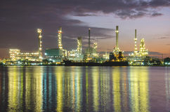 Petrochemical plant  industry at twilight time Stock Photos