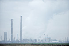 Petrochemical Plant Landscape Royalty Free Stock Photos