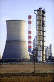 Petrochemical Plant Landscape Stock Image