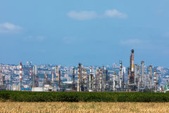Petrochemical plant near Haifa in Israle Stock Photography