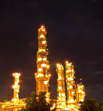 Petrochemical plant at night. Royalty Free Stock Photo