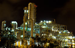 Petrochemical plant in the night. Stock Image